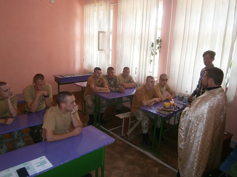 Капелан УПЦ КП прочитав військовим лекції «Цінність християнського життя» та «Вартість і призначення людини»