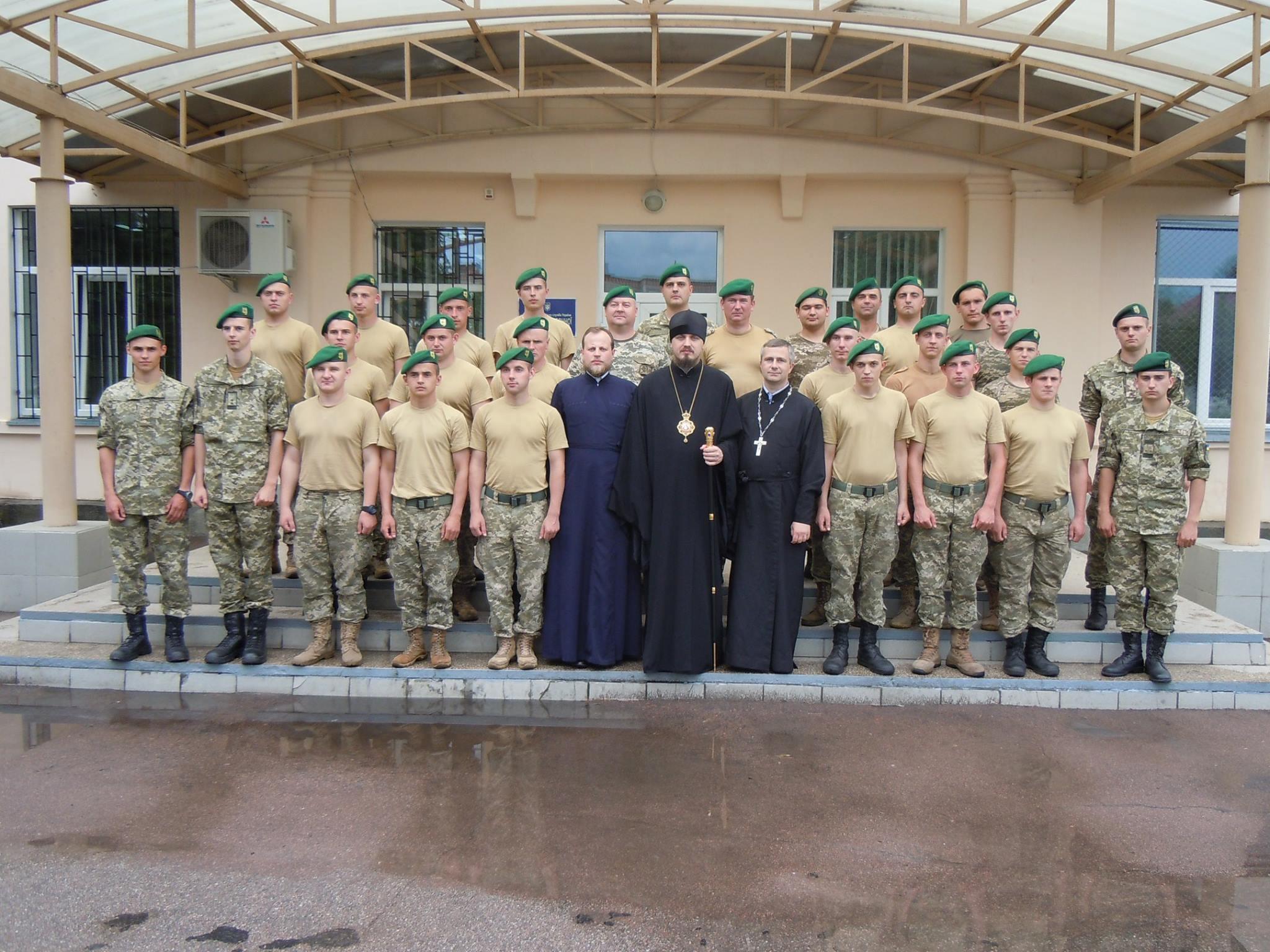 Єпископ УПЦ КП відвідав відділ прикордонної служби на кордоні з Білоруссю