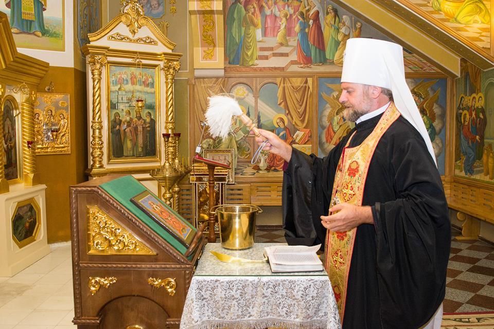 Митрополит УПЦ КП освятив ікону для Центру «Миротворець»