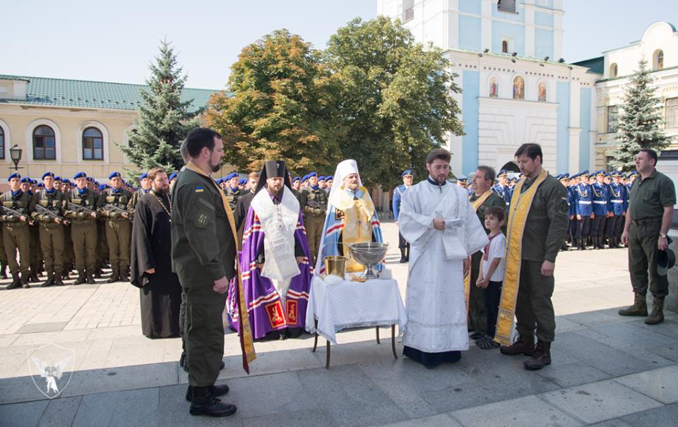 У Михайлівському Золотоверхому монастирі благословили воїнів парадного розрахунку Національної гвардії України