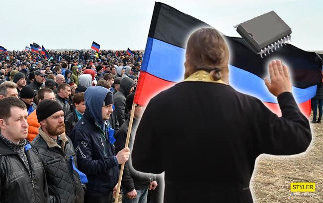 В «ДНР» священики УПЦ (МП) лякають парафіян «американськими чіпами»