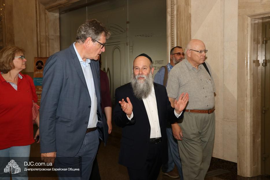 Германские дипломаты и мониторинговая миссия ОБСЕ ознакомились с деятельностью еврейских институций Днепра