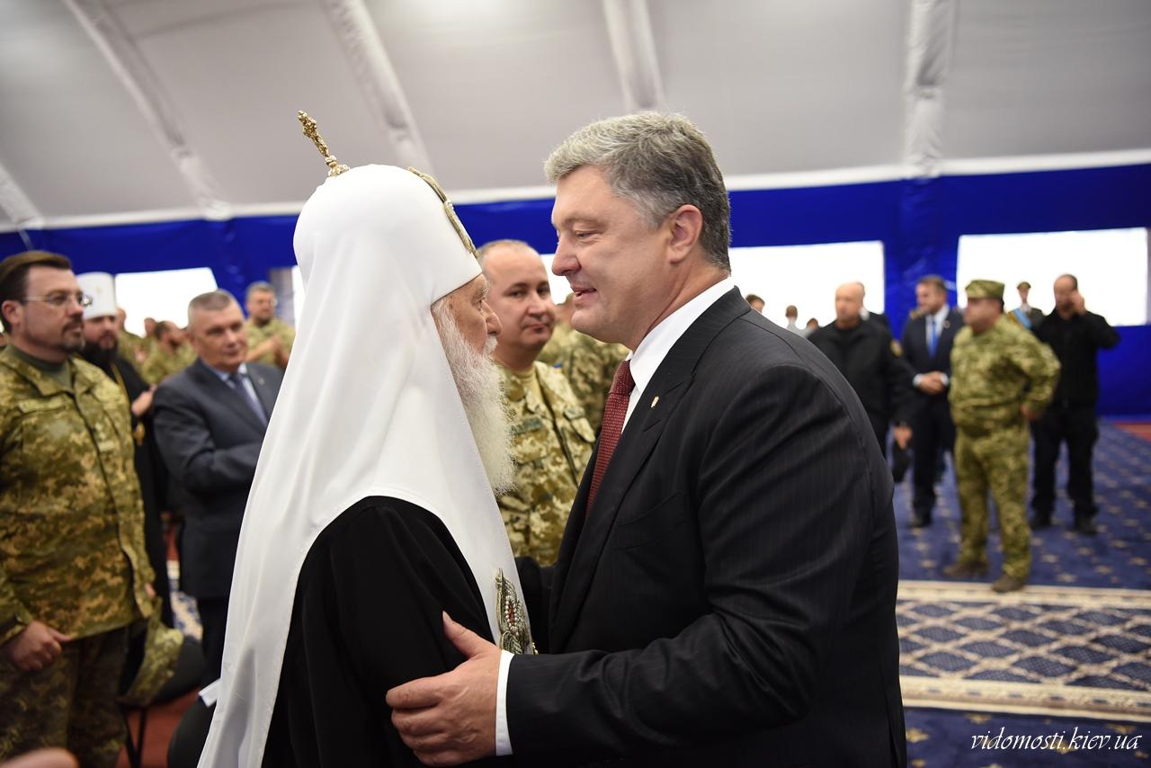 У День воєнної розвідки глава УПЦ КП відвідав частину ГУР