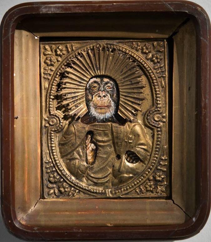 Виставкою «ікон» з мавпячими мордами зацікавилися правоохоронні органи