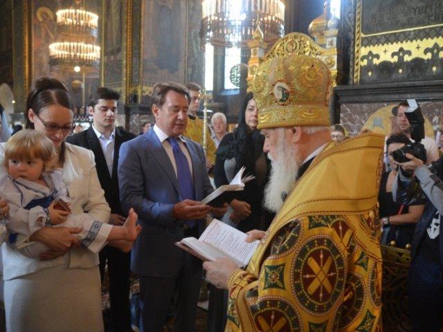 Патріарх Філарет охрестив сина Дениса Вороненкова та Марії Максакової