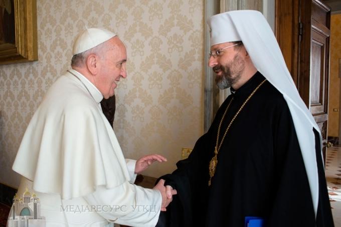 Глава УГКЦ запросив папу Римського в Україну і запропонував кроки на шляху екуменічного діалогу