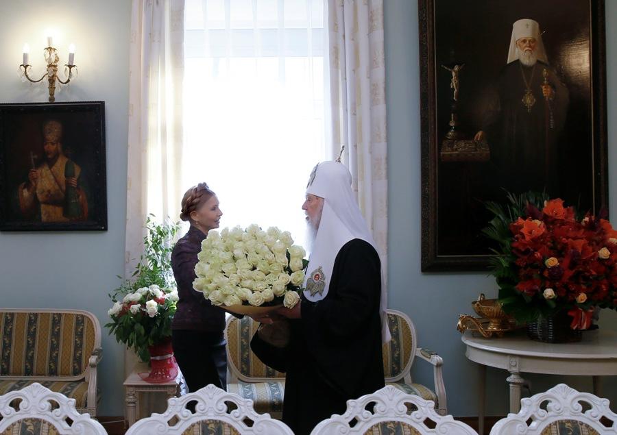 Юлія Тимошенко привітала патріарха Філарета з 22-ю річницею інтронізації