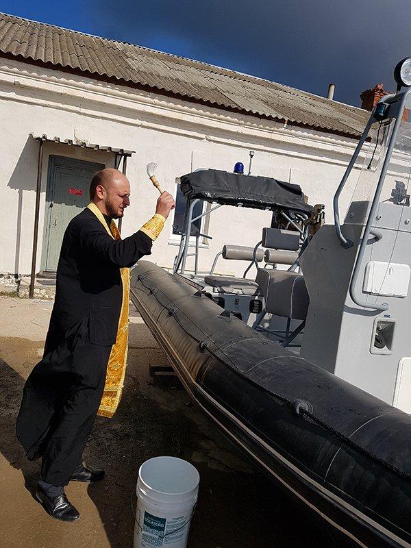 Священик УПЦ (МП) освятив центр особливого призначення Чорноморського флоту РФ