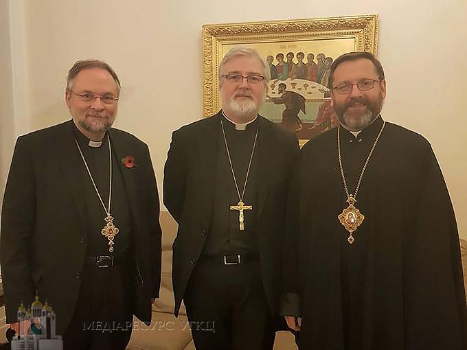 Глава УГКЦ зустрівся з англіканським єпископом, апостольським нунцієм у Великобританії та білоруськими греко-католиками