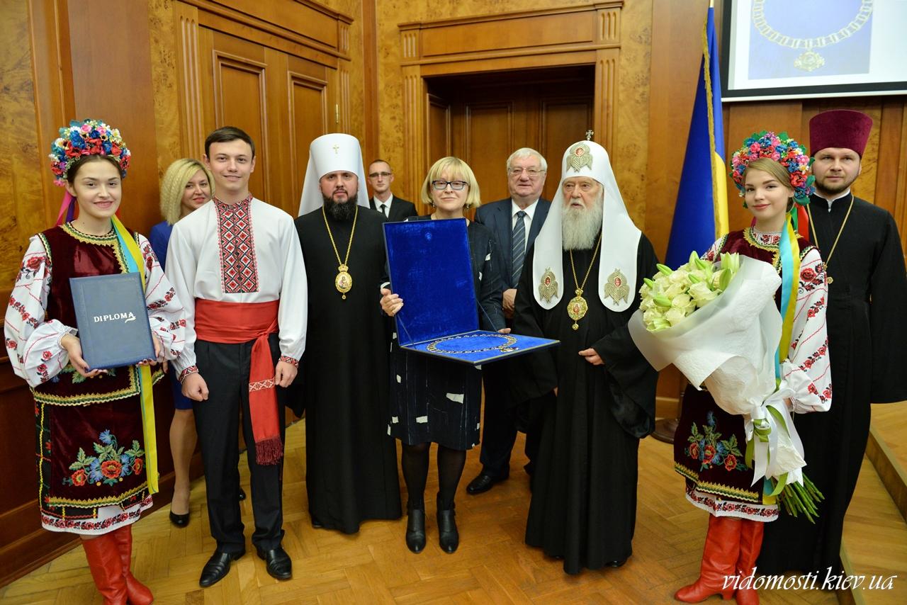 Патріарх Філарет став почесним доктором Національного медичного університету імені О.О.Богомольця