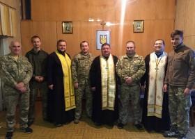 Запорізький єпископ УПЦ КП освятив каплицю у прикордонному загоні