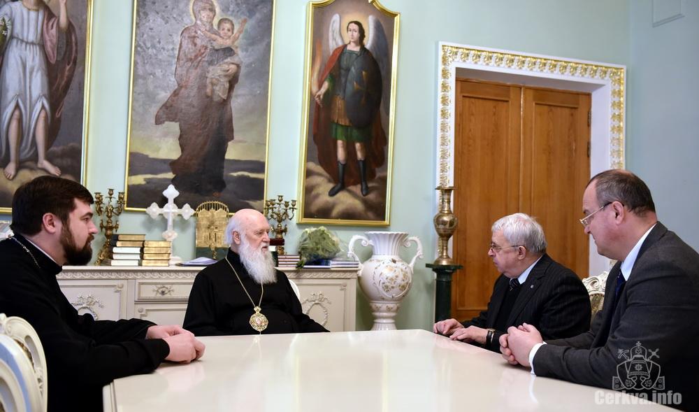 Патріарх Філарет обговорив з ректором НПУ ім. М.  Драгоманова перебіг діалогу між світськими й духовними науковими колами