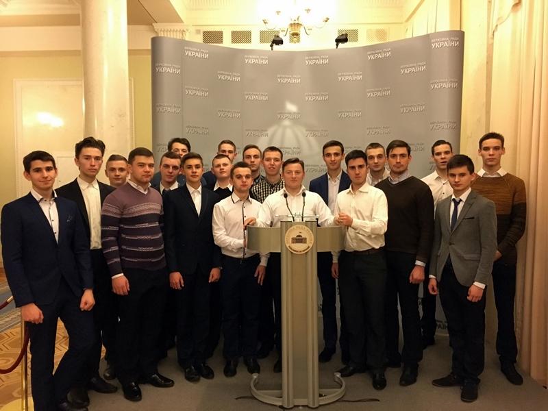 Студенти академії УПЦ КП відвідали Верховну Раду України