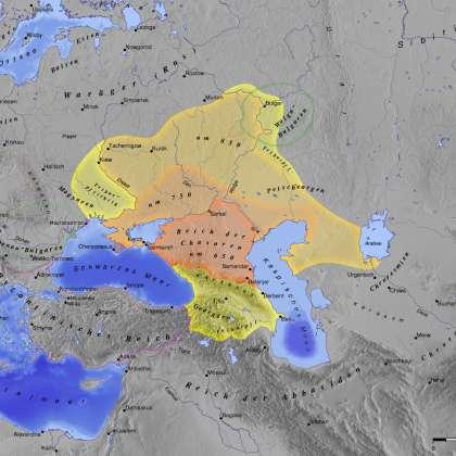 Територія Хозарського каганату //  Wikimedia foundation
